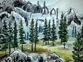Ralf-Wall-Raflar_watercolour-ink_8x10_Skyrim-Bleak-falls-barrow