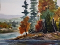 Ralf-Wall-Raflar_watercolour-ink_8x10_Burnt-Island_Algonquin