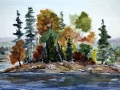 Ralf-Wall-Raflar_watercolour_11x22_Northern-Lake-Island-2
