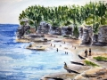 Ralf-Wall-Raflar_watercolour_14x14_Cove-Beach-2