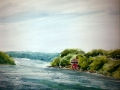 Ralf-Wall-Raflar_watercolour_8x10_At-the-Queenston-boat-launch-on-the-Niagara-River