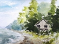 Ralf-Wall-Raflar_watercolour_8x10_Beach-house-in-Port-Albert