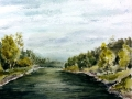 Ralf-Wall-Raflar_watercolour_8x10_Grand-River-in-Elora