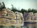 Ralf-Wall-Raflar_watercolour_8x10_Rocky-Reflections