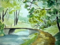 Ralf-Wall-Raflar_watercolour_8x10_bridge-over-quiet-stream
