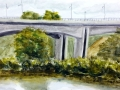 Ralf-Wall-Raflar_watercolour_8x10_grand-river-at-fairway-bridge