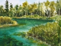 Ralf-Wall-Raflar_watercolour_8x10_quiet-creek-at-the-Pinery
