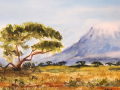 Ralf-Wall-Raflar_watercolour_8x10_Mount-Kilimanjaro