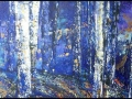 Ralf-Wall-Raflar_acrylic_18x48_birches-at-night