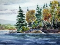 Ralf-Wall-Raflar_watercolour_11x22_Northern-Lake-Island-1
