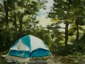 Ralf-Wall-Raflar_watercolour_8x10_Birthday-camping-at-the-Pinery