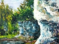 Ralf-Wall-Raflar_acrylic_16x20_Gorge-Wall