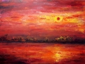 Ralf-Wall-Raflar_acrylic_36x48_Red-Sky-at-Night
