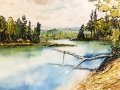 Ralf-Wall-Raflar_watercolour-ink_11x14_Halls_Lake_Fishing_Hole