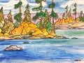 Ralf-Wall-Raflar_watercolour-ink_5x7_summer-lake