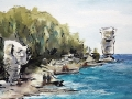 Ralf-Wall-Raflar_watercolour-ink_8x10_Flowerpot-Island