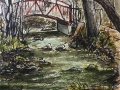 Ralf-Wall-Raflar_watercolour-ink_8x10_bridge-in-Monarch-Woods