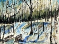 Ralf-Wall-Raflar_watercolour-ink_8x10_sunny-winter-forest