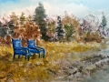 Ralf-Wall-Raflar_watercolour_10x15_blue-chairs-at-Kincardine-beach