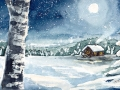 Ralf-Wall-Raflar_watercolour_6x12_Snowy_Night