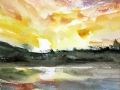 Ralf-Wall-Raflar_watercolour_6x8_Sunset-Study-1