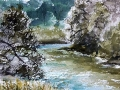 Ralf-Wall-Raflar_watercolour_8x10_Conestogo-River-at-Three-Bridges