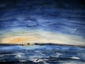 Ralf-Wall-Raflar_watercolour_8x10_Night_Sky_above_Erie_Pennsylvania