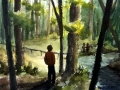 Ralf-Wall-Raflar_watercolour_8x10_walking-along-a-wooded-stream